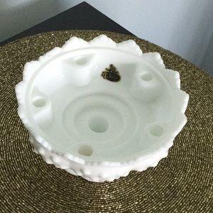Fenton Milk Glass Hobnail candleholder